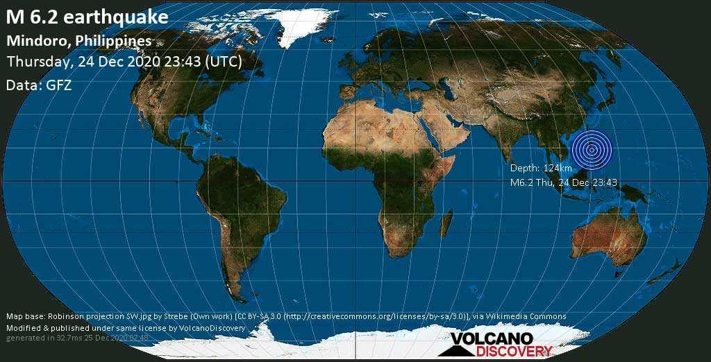 फिलिपिन्समा शुक्रबार बिहान ६.२ म्याग्निच्यूडको शक्तिशाली भूकम्प