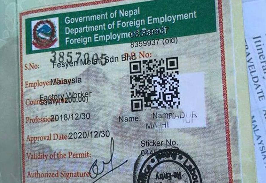 अब विदेशबाटै अनलाईनमार्फत पुनः श्रम स्वीकृति लिन सकिने