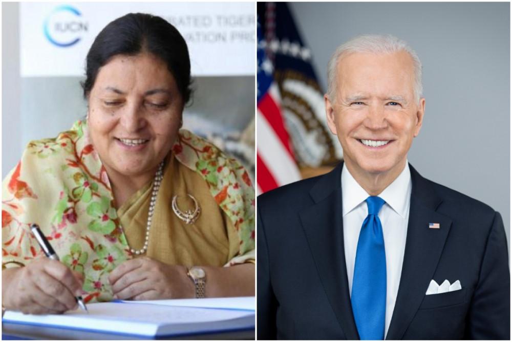 नेपाललाई खोप सहयोग गर्न अनुरोध गर्दै राष्टपतिद्वारा अमेरिकी राष्ट्रपतिलाई पत्राचार