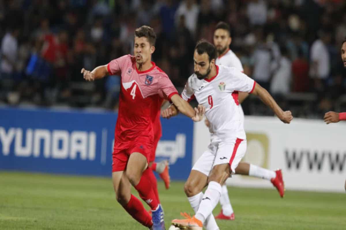 जोर्डनसँग नेपाल ३–० ले पराजित