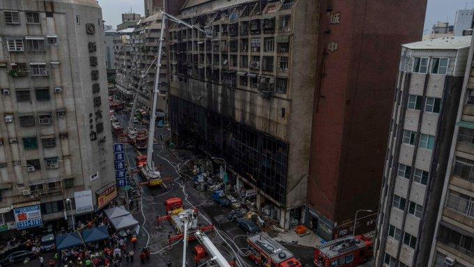 दक्षिणी ताइवानको एक भवनमा आगलागी, कम्तीमा ४६ जनाको मृत्यु